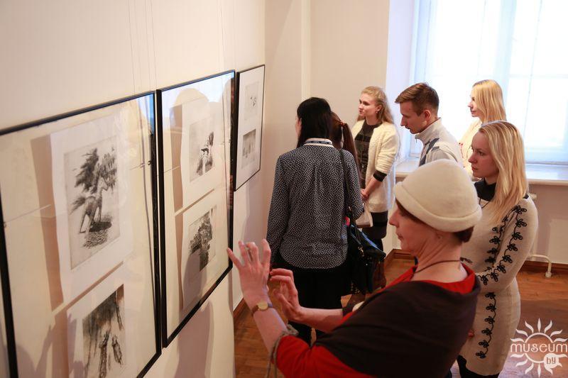 Открытие выставки графики Сергея Баленка «Будет время – заходи…». Полоцк, Художественная галерея, 2016