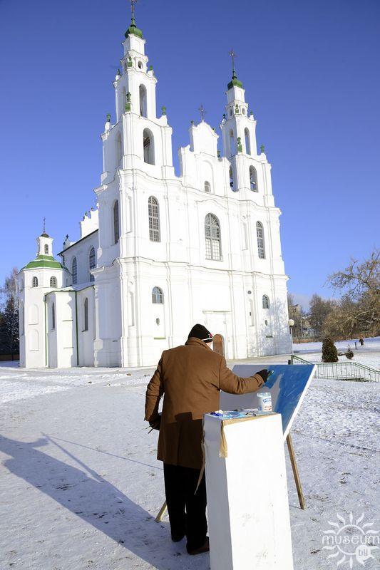 Алексей Наумов на пленэре живописи в Полоцке. 2016