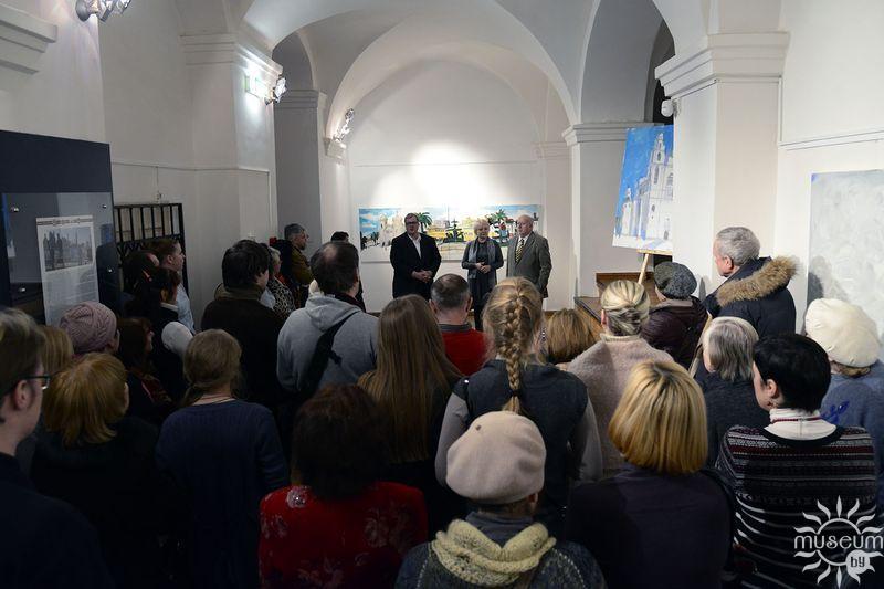 Открытие выставки живописи Алексея Наумова и Кристапса Зариньша «Города мира». Полоцк, Художественная галерея, 2016