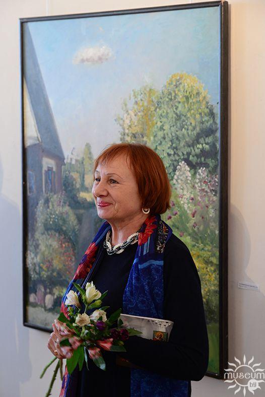 Открытие выставки живописи Марии Исаёнок «Квітнеючыя сусветы». Полоцк, Художественная галерея, 2016