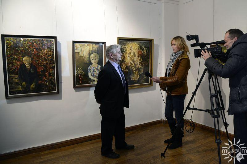Открытие персональной выставки акварелей Виктора Михайловича Лукьянова. Полоцк, Художественная галерея, 2016