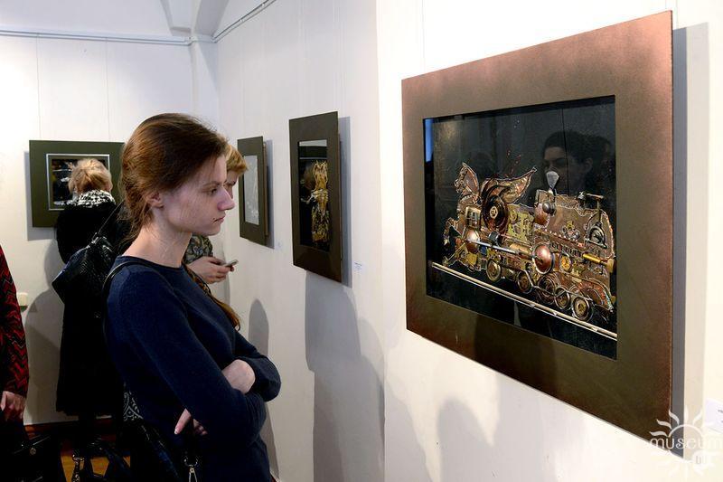 Выстава Вольги Лук'яненка «Мелодыя для механічнай птушкі». Полацк, Мастацкая галерэя, 2017