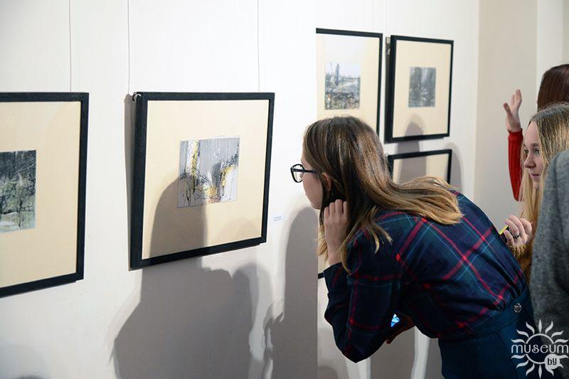 Открытие персональной выставки гуаши и рисунка Леонида Медведского «Пейзаж». Полоцк, Художественная галерея, 2016